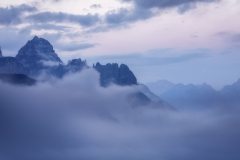 Cloudy in the Dolomites