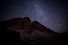 The Milky Way at Rifugio Auronzo