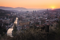 Sarajevo at Sunset