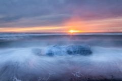 Sunrise/Sunset at Jokulsarlon Beach