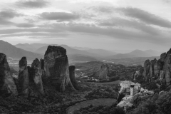Clouds over Meteora